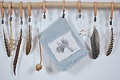 Úžitkový textil - ľanová utierka s aplikáciou soba - 8902166_