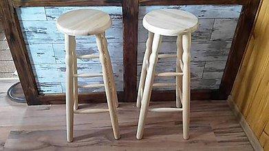 Nábytok - Barová drevená stolička - 8902565_