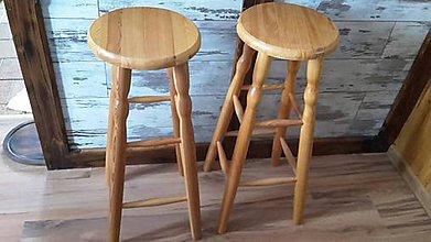 Nábytok - Barová drevená stolička jelša - 8902598_