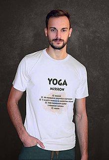 Oblečenie - YOGA MISSION - joga výzva pre mužov - 8904552_