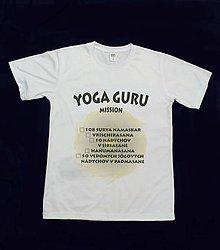 Oblečenie - YOGA GURU - tričko s joga výzvou pre pokročilých (mužské) - 8904920_