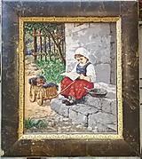 """Obrazy - Vysivany obraz """"Dievčatko"""" o02 - 8903041_"""