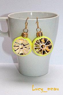 Náušnice - Zimné citróniky :) - 8904721_