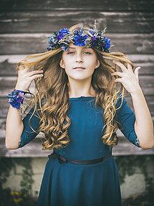 """Ozdoby do vlasov - Kvetinový venček """"čaro tichej noci"""" - 8904228_"""