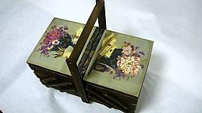 """Krabičky - Veľký box na šitie """"Zátišie"""" - 8903923_"""
