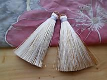 - Veľké hodvábne strapčeky - pár (Biele) - 8904152_