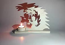 Svietidlá a sviečky - Svietnik na vonnú sviečku - 8904678_