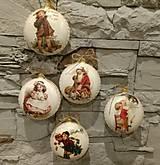 Dekorácie - Vianočná plastová dekorácia medailónII. - 8904751_