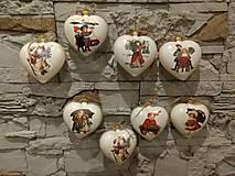 Dekorácie - Vianočná plastová dekorácia srdceIII. - 8904900_