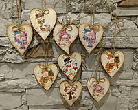 Dekorácie - Drevená vianočná dekorácia III. - 8904952_
