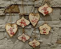 Dekorácie - Vianočná drevená dekorácia IV. - 8904982_
