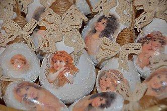Dekorácie - Recyklo vianočné ozdoby - anjel - 8903294_