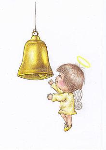 Kresby - Anjelik a zvonček - 8905340_