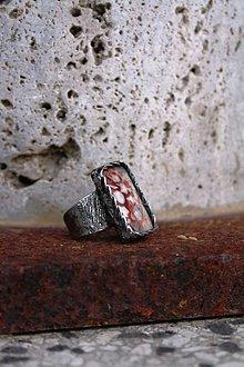 Prstene - Čipka - Achát krajkový - 8906818_