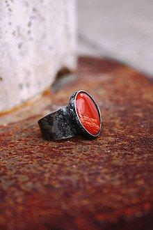 Prstene - Jaspis červený - 8906905_