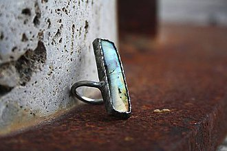 Prstene - Fascinátor - Labradorit - 8908188_
