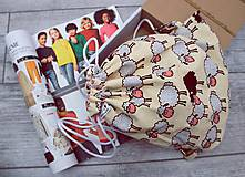 Detské tašky - OVEČKY - sLEčINKY obojstranný detský ruksačik - 8906421_