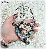 Dekorácie - ♥ Vianočný ochranný amulet s labradoritom 1. ♥ - 8908596_