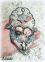 Dekorácie - ♥ Vianočný ochranný amulet s labradoritom 3.♥ - 8908667_