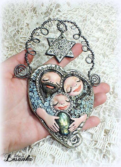 ♥ Vianočný ochranný amulet s labradoritom 3.♥