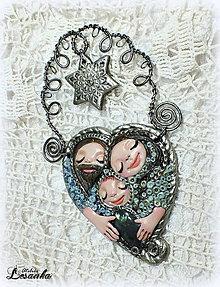 Dekorácie - ♥ Vianočný ochranný amulet s labradoritom 4.♥ - 8908706_