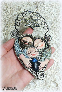 Dekorácie - ♥ Vianočný ochranný amulet s labradoritom 5.♥ - 8908729_