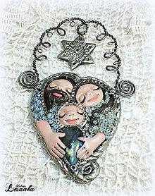 Dekorácie - ♥ Vianočný ochranný amulet s labradoritom 6.♥ - 8908747_