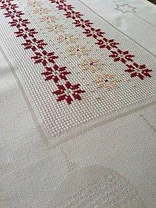 Úžitkový textil - Vianočná štola na stôl vyšívaná - 8906493_