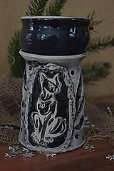 Svietidlá a sviečky - aroma lampa-mačka - 8908523_
