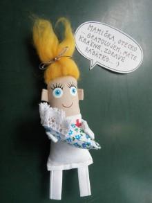 Magnetky - *Pani doktorka s miminkom*- personalizovaná textilná magnetka na objednávku - 8907034_