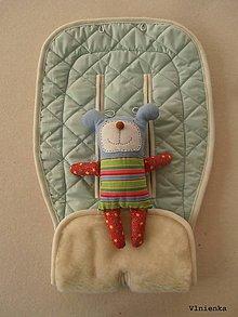 Textil - 100% MERINO wool Podložka do kočíka Bugaboo/ Joolz/ Valco/ Petite and Mars / Britax mentolová - 8910066_