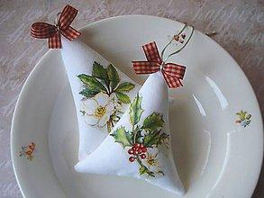 Dekorácie - Vianočné stromčeky - Cezmína a čerešňový kvet - 8907212_