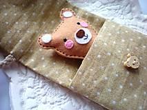 Hračky - Drobnosti v kapsičke pre dievčatá (Medvedík) - 8907681_