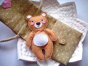 Hračky - Drobnosti v kapsičke pre dievčatá (Medvedík) - 8907684_