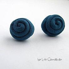 Náušnice - Náušnice . Textilky - 8908928_
