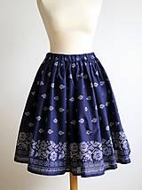 Sukne - sukňa s ornamentom - 8909273_