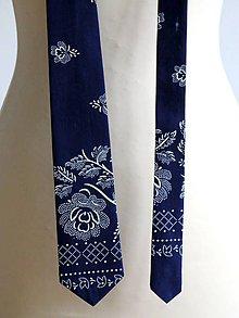 Doplnky - pánska kravata s ornamentom - 8909213_