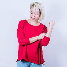 Mikiny - Červená mikina - 8906614_