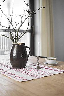 Úžitkový textil - Ľanové Vianočné prestieranie 64x40-skladom - 8910018_