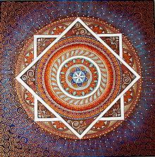 Obrazy - Mandala rodinnej súdržnosti - 8906635_