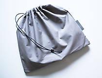 Kabelky - Koženo- kožušinová listová kabelka-SIVÁ - 8906997_