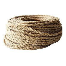 Komponenty - Kábel dvojžilový v podobe retro lana, 2 x 0.75mm, 5 metrov (zvýhodnená cena) - 8909871_