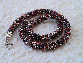 Náhrdelníky - farebnicový čierno-zemitý - 8909067_