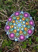 Dekorácie - V žiarivých farbách - Na kameni maľované - 8909844_