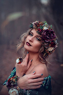 Prstene - Lesný kvetinový prstienok - 8908243_