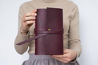 Papiernictvo - Ručne viazaný kožený zápisník Rita - 8906441_