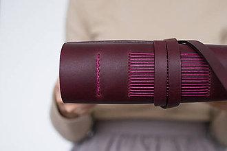 Papiernictvo - Ručne viazaný kožený zápisník Andrea - 8906455_