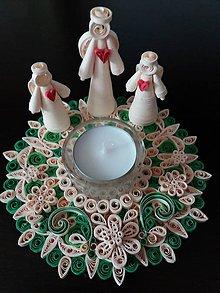 Dekorácie - Vianočný svietnik - 8909874_