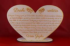 Darčeky pre svadobčanov - Drevene srdiečko ako poďakovanie rodičom  2 - 8907973_