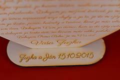 Darčeky pre svadobčanov - Drevene srdiečko ako poďakovanie rodičom  2 - 8907975_